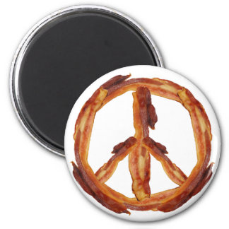 Peace Of Bacon 2 Inch Round Magnet