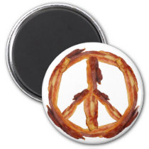 Peace Of Bacon Magnet