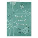 Peace Of Christmas  Christmas Card