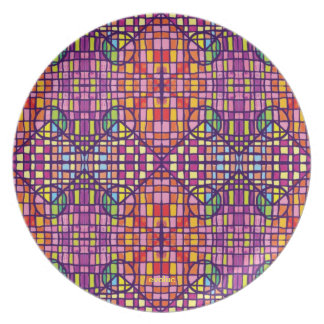 Peace of color dinner plate