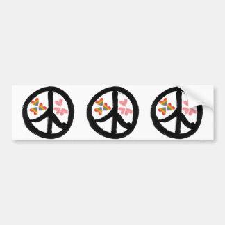 Peace of Hearts Car Bumper Sticker