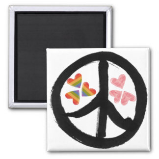 Peace of Hearts Refrigerator Magnet