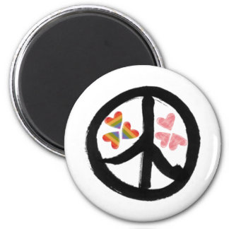 Peace of Hearts Magnets