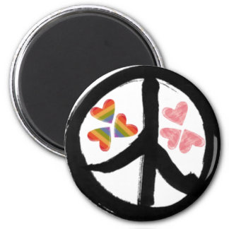 Peace of Hearts Refrigerator Magnets