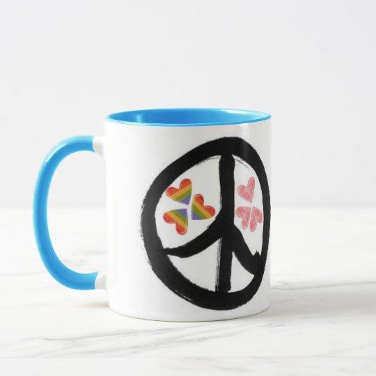 Peace of Hearts Mug