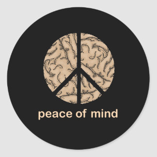 Peace of Mind Classic Round Sticker