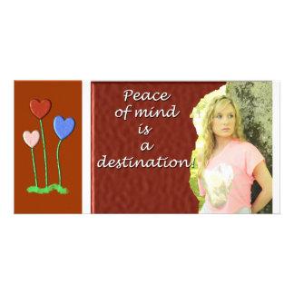 Peace of mind photo card