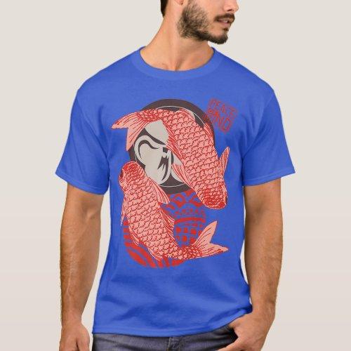 Peace of Mind Therapist Ying Yang Gift Koi Fish T-Shirt