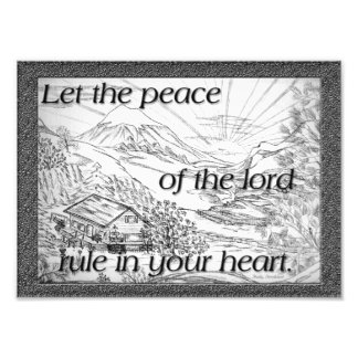 """Peace"" of the Lord Photographic Print"
