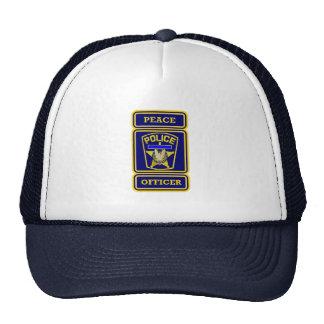 Peace Officer Thin Blue Line Badge Trucker Hat