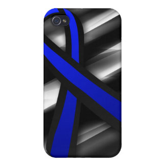 Peace Officers Memorial Ribbon Cover For iPhone 4