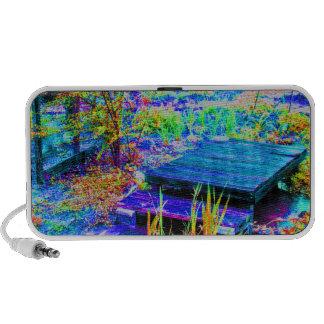 Peace on Deck in MaMaw's Garden Laptop Speaker