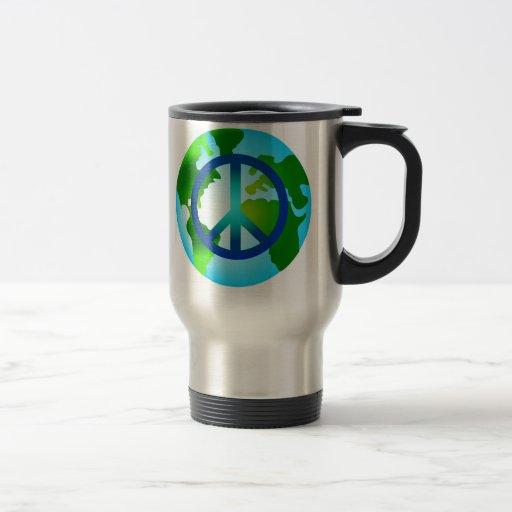 Peace on Earth 15 Oz Stainless Steel Travel Mug