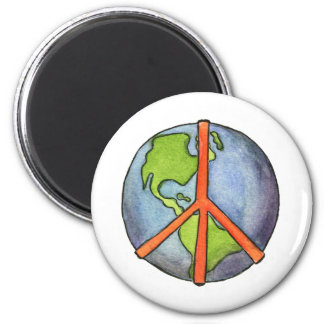 Peace On Earth 2 Inch Round Magnet