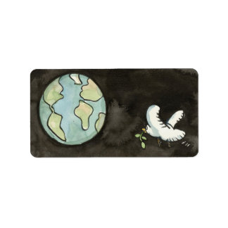 Peace on Earth Address Label