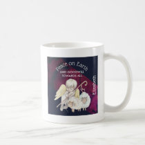 Peace on Earth and Goodwill Toward All Shepherd Coffee Mug