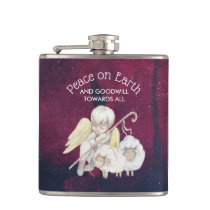 Peace on Earth and Goodwill Toward All Shepherd Flask
