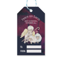 Peace on Earth and Goodwill Toward All Shepherd Gift Tags