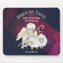 Peace on Earth and Goodwill Toward All Shepherd Mouse Pad