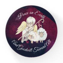 Peace on Earth and Goodwill Toward All Shepherd Paperweight