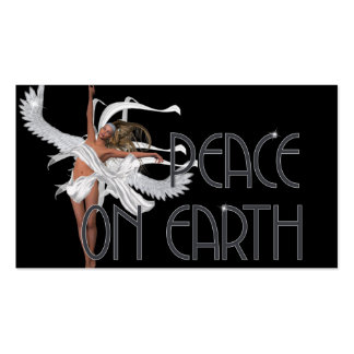 Peace on Earth Angel 1 - Fantasy Gift Tags Business Card Templates