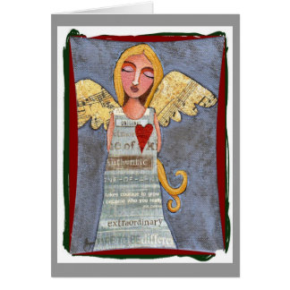 Peace on Earth Angel - Christmas card
