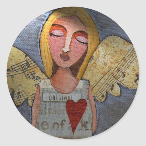 Peace on Earth Angel - Christmas stickers