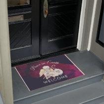 Peace on Earth Angel Shepherd with Lambs Doormat