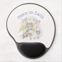 Peace on Earth Angel Shepherd with Lambs Gel Mouse Pad
