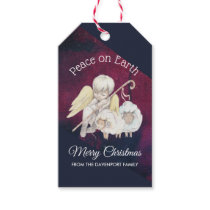 Peace on Earth Angel Shepherd with Lambs Gift Tags