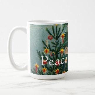Peace on Earth Angel Vintage Print Coffee Mug