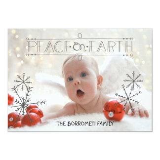 Peace On Earth Angelic One Photo Xmas Card