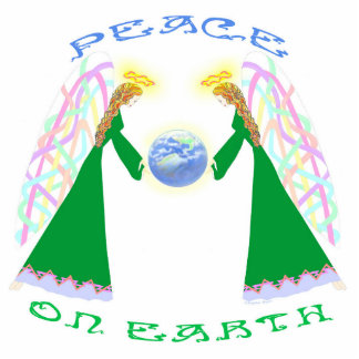 Peace on Earth - Angels Over Earth Pin Statuette