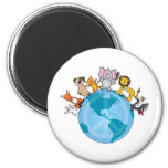 Peace On Earth Animals Magnets