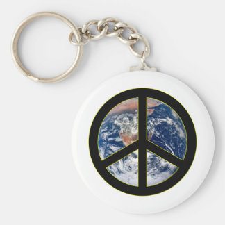 Peace On Earth Basic Round Button Keychain