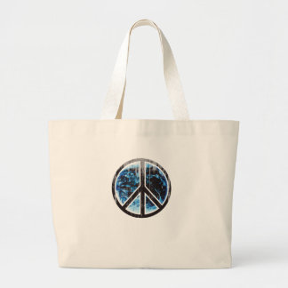 peace on earth black Faded.png Bag