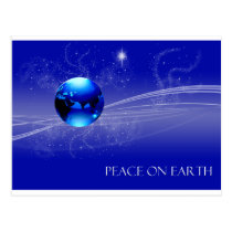 Peace on Earth - Blue Postcard