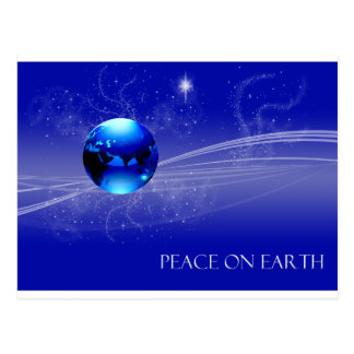 Peace on Earth - Blue Postcard