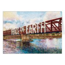 Peace On Earth Bridge Card