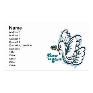 Peace On Earth Business Card Template