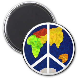Peace on Earth Button Magnet