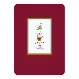 Peace on Earth Card at Zazzle