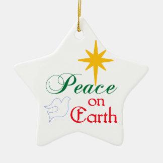 Peace On Earth Ceramic Ornament