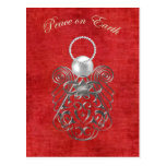 Peace on Earth - Christmas Angel of Peace - Red Post Cards