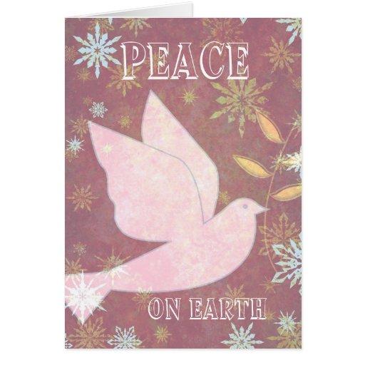 Peace on Earth Christmas Card | Zazzle