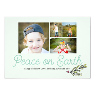 Peace on Earth Christmas Card 5x7
