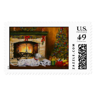 Peace on Earth- Christmas Dogs Postage