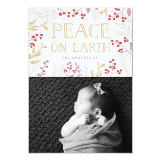 Peace On Earth  Christmas Holiday Card