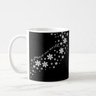 """""""Peace on Earth"""" Christmas Holiday Mug"""