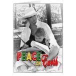Peace on Earth - Christmas Photo Card Cards